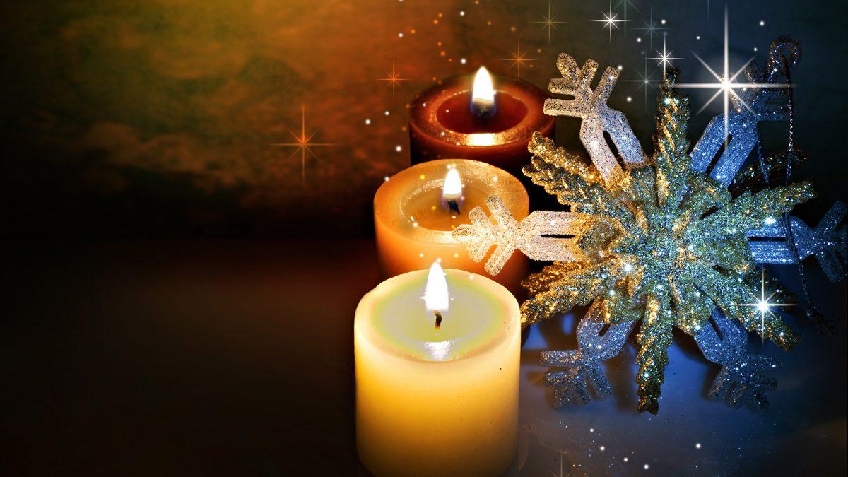 картинки и картички за нова година със свещи
