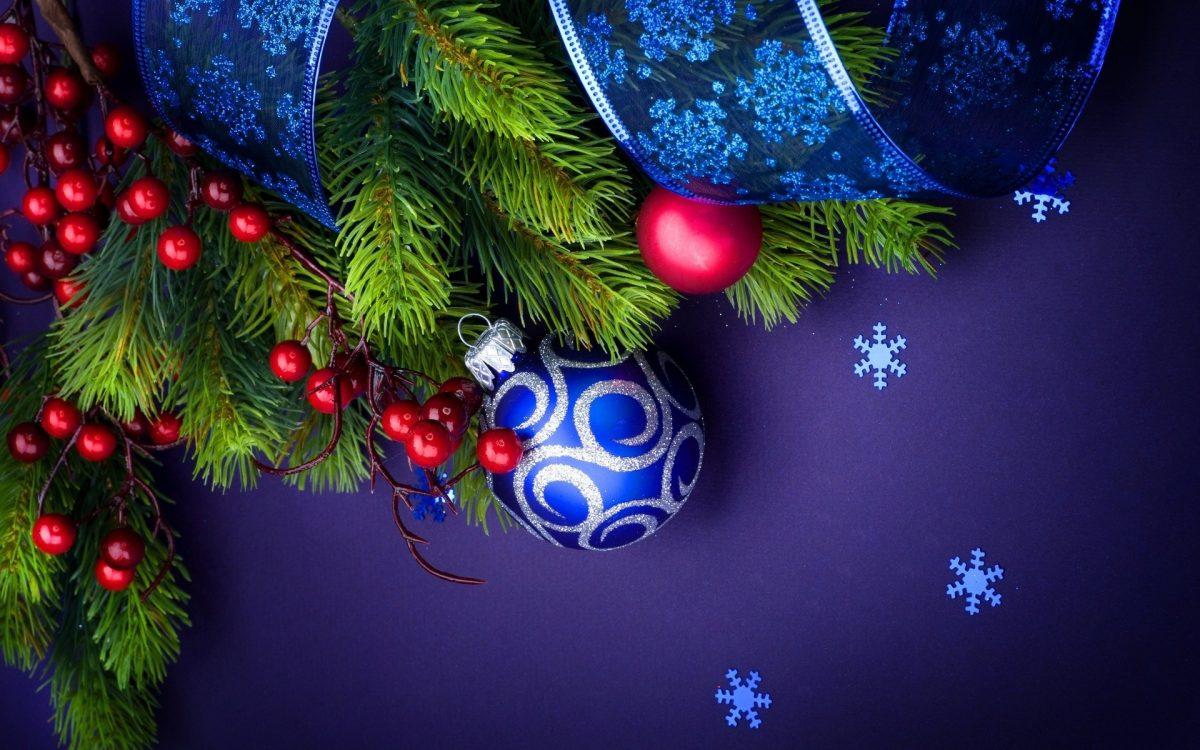 картинки и картички за нова година с синя декорация
